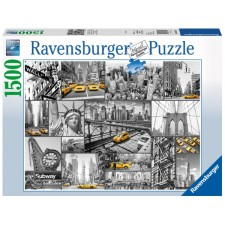 Ravensburger 163540 Puzzle: Farbtupfer in New York 1500 Teile