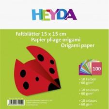 Faltblatt 15x15cm 60g 100Bl sort