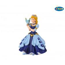 Prinzessin Mit Vogel, Blau