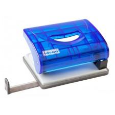 Locher m. Anschlagschiene, transluzent blau
