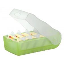 Karteibox Croco A8 grün