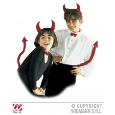 Teufelset für Kinder mit Hörner, Schweif & Fliege