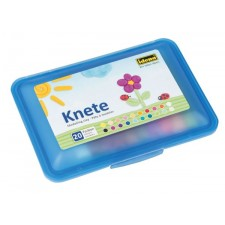 Knetbox blau, 20 Stangen Knete sortiert