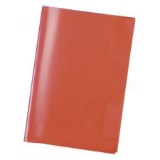 Heftschoner A4 transparent rot