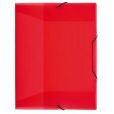 Heftbox A4, Gummizug, transluzent, rot