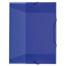 Heftbox A4, Gummizug, transluzent, blau