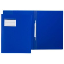 Idena Schnellhefter transluzent blau A4 mit Fenster, Überbreite