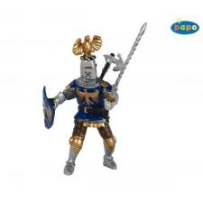 Ritter mit Adlerhelm, blau