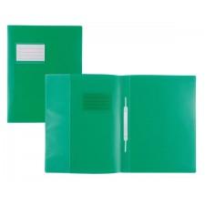 Schnellhefter f. A4, transluzent, grün, m. Fenster, Überbreite, m. Beschrif5tungsfenster