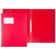 Schnellhefter f. A4,transluzent rot, m. Fenster, Überbreite auch zu. Abheften v. Prospekthüllen, Beschriftungsfenster 90x57 auf