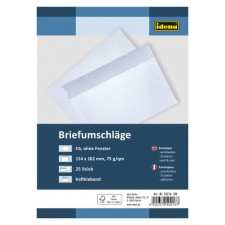 Briefumschläge ohne Fenster 25 Stück haftklebend