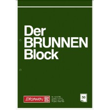 Briefblock A4 BRUNNEN unliniert gelocht