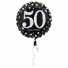 Folienballon Sparkling Birthday 50 inkl. Helium