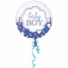Folienballon Baby Boy Muschel inkl. Helium