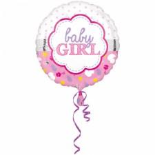 Folienballon Baby girl Muschel inkl. Helium