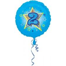 Folienballon Blue Stars 2 inkl. Helium