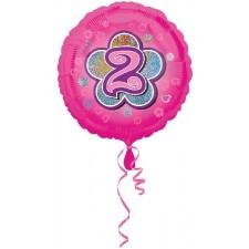 Folienballon Pink Flowers 2 inkl. Helium