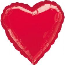 Folienballon Herz rot inkl. Helium