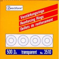 Verstärkungsringe 500 Stück transparent