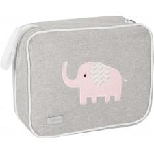 Wickelcase Elefant melange grau/rosa