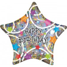 Standard Happy Birthday Stars