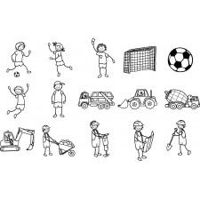 Stempelset Fußball