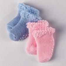 Götz 3200640 Stopper Socken, 33-42cm, rosa/blau