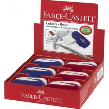 Faber-Castell Radierer SLEEVE rot/blau