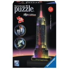 Ravensburger 125661  3D Puzzle Empire State Building Night Edition 216 Teile