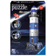 Ravensburger 125777  3D Puzzle Leuchtturm Night Edition 216 Teile