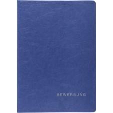 Bewerbungsmappe blau 2teilig Karton