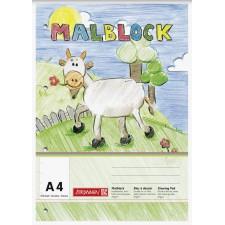 Malblock A4, 70 gr. 100 Bl., 4fach gelocht