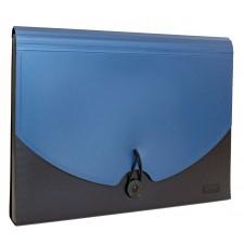 Idena Fächermappe A4 blau/schwarz