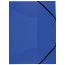 Idena Gummizugmappe A3 PP transluzent blau