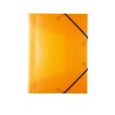 Idena Gummizugmappe A3 PP transluzent orange