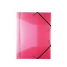 Idena Gummizugmappe A3 PP transluzent pink