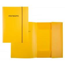 Idena Postmappe A4 mit Gummizug gelb