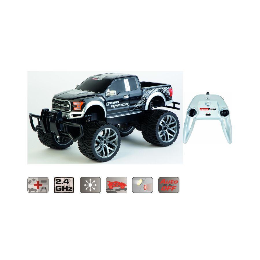 carrera rc ford f 150 raptor black ferngesteuert 2 4 ghz. Black Bedroom Furniture Sets. Home Design Ideas