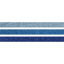 GlitterTape blau 3er
