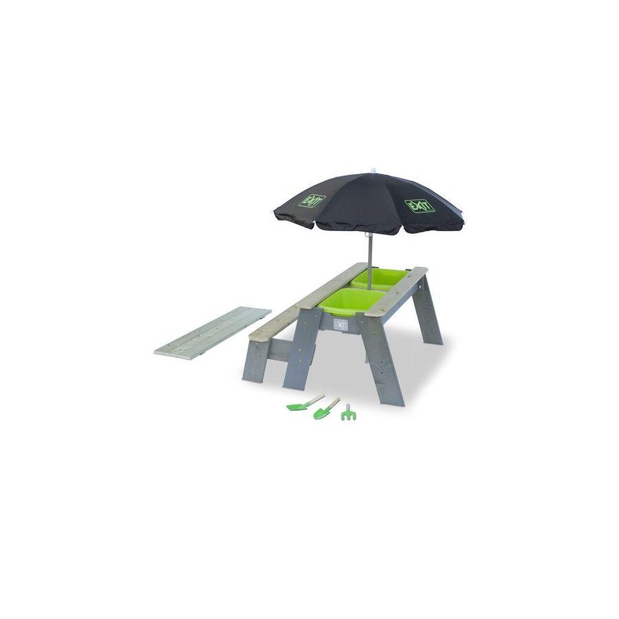 exit Sand-Wasser-Picknicktisch L, eine Sitzfläche