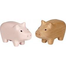 Mini-Holzschweinchen Viel Glück
