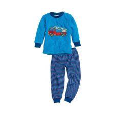 Schlafanzug Frottee Feuerwehr bleu 80-98