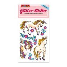 Glitter-Sticker Einhörner