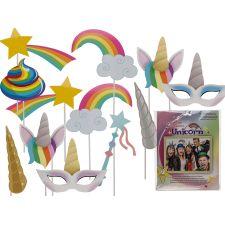 Party Foto Verkleidung mit Stick - Einhorn