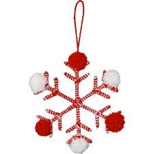 Anhänger Schneeflocke Achöne Weihnachtszeit