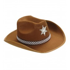 SHERIFF HUT braun - aus Filz