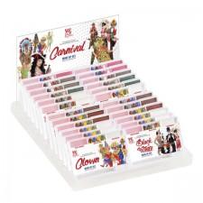 24 FASCHING MAKE UP SETS DisplayBox (6 Clown, 3 Cowboy, 3 Indianer, 3 Piraten, 3 Soldaten, 3 Schwarz & Weiß, 3 Fee)