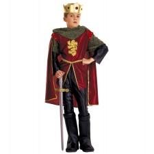 KRONRITTER (Coat, Hose, Überstiefel, Umhang, Krone mit Juwelen) (140 cm / 8-10 Years)