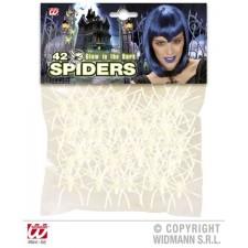 Spinnen fluoreszierend, 42 Stück