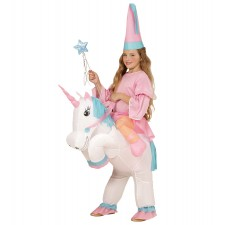 EINHORN (aufblasbares Kost³m mit Ventilator und Hut) (One Size Fits Most Children)